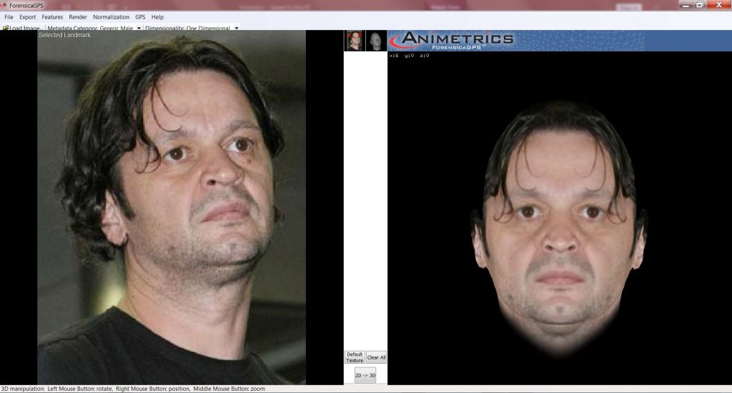 ForensicaGPS™ Facial Recognition Pose Correction Software